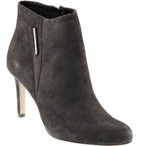 Vince Camuto Grey Charlotte Suede Booties